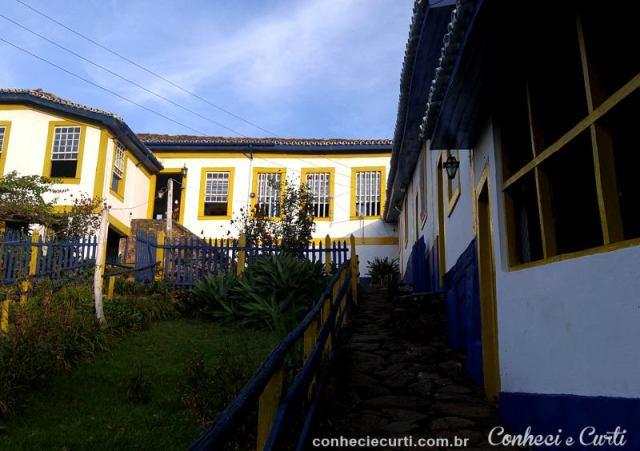 Fachada da Fazenda São José da Vargem em Minas Gerais.