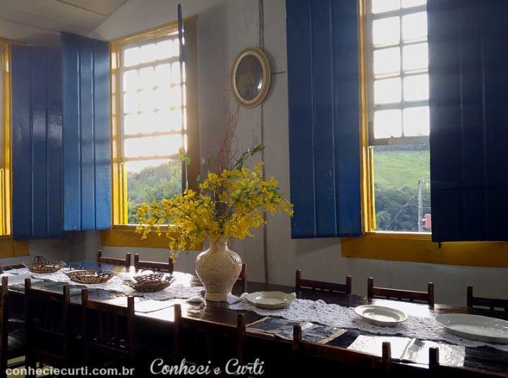 Sala de Jantar da Fazenda São José da Vargem.