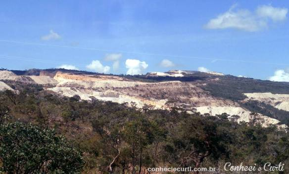 A montanha de quartzito de São Tomé das Letras.