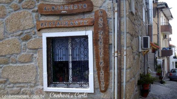 O restaurante As Ferreirinhas em Belmonte.