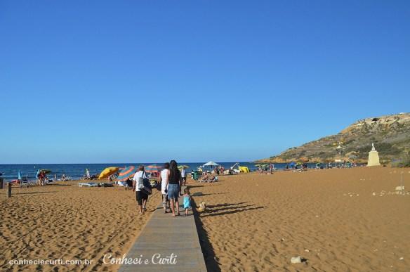 Praia Ġnejna Bay Beach em Malta