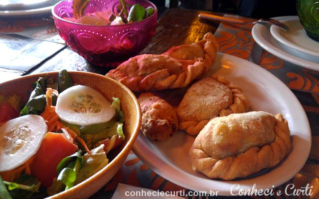 As entradas no menu do Pata Negra no Festival Bom Gourmet, Curitiba.