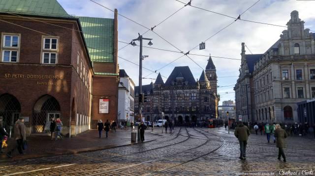 O centro histórico da cidade de Bremen na Alemanha.