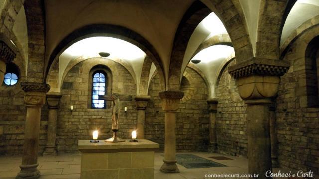 A cripta da Catedral de São Pedro de Bremen, Alemanha.