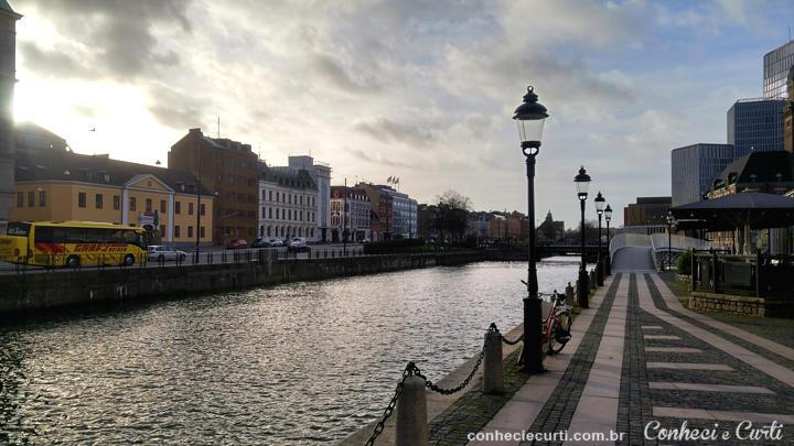 A cidade de Malmö na Suécia.