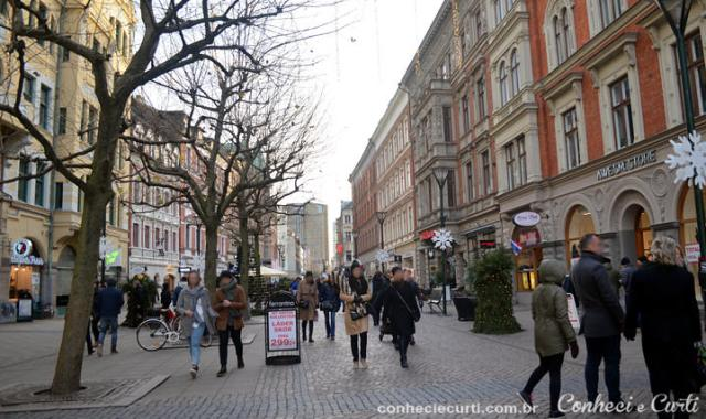 A cidade de Malmö.