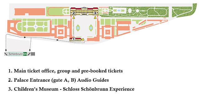 Por onde começar. Créditos: Site Oficial Schönbrunn