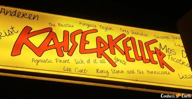 O nome das bandas que passaram pelo Kaiserkeller