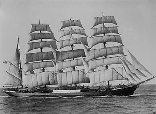 O veleiro Pamir. Fonte: Wikipédia