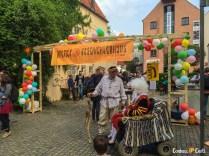 A entrada da Bremer Geschichtenhaus no verão.