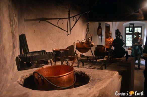 A cozinha do castelo de Orava.