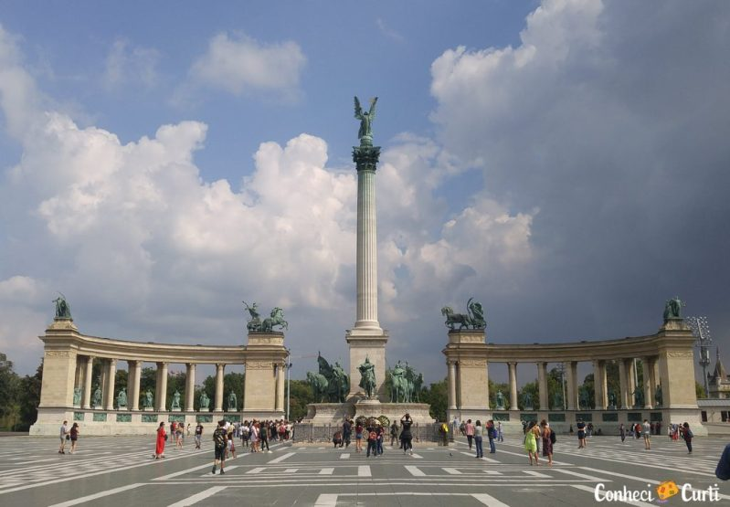 Praça dos Heróis, Budapeste.