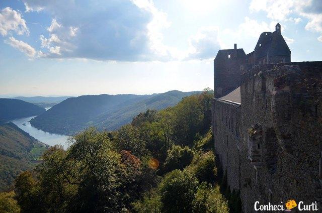 Vale Wachau, Austria - visto do Castelo Aggstein