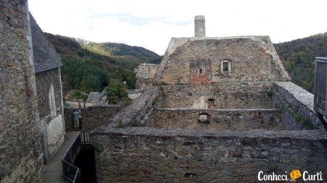 As ruínas do Castelo Aggstein