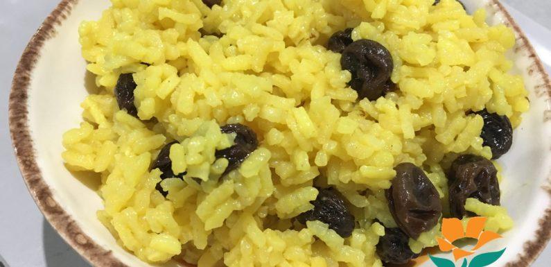 GEELRIJS CON CANELA Y AZÚCAR (Arroz con pasas aromático) (Sin gluten).