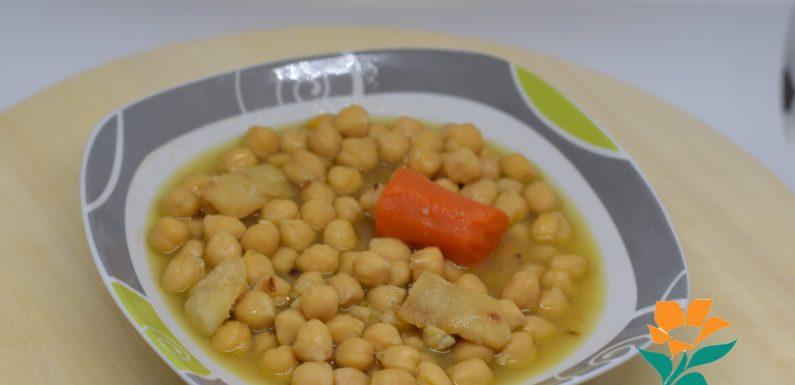 RECETA: GARBANZOS DE VIGILIA (CON BACALAO) Sin gluten