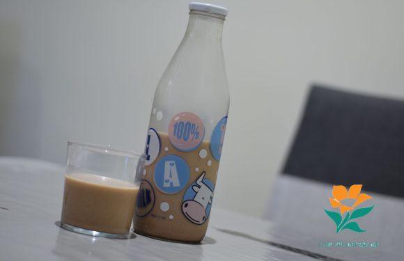 Bebida de avellanas con algarroba