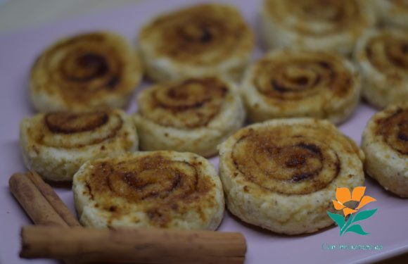 Rollitos de canela sin gluten, sin huevo y sin lácteos