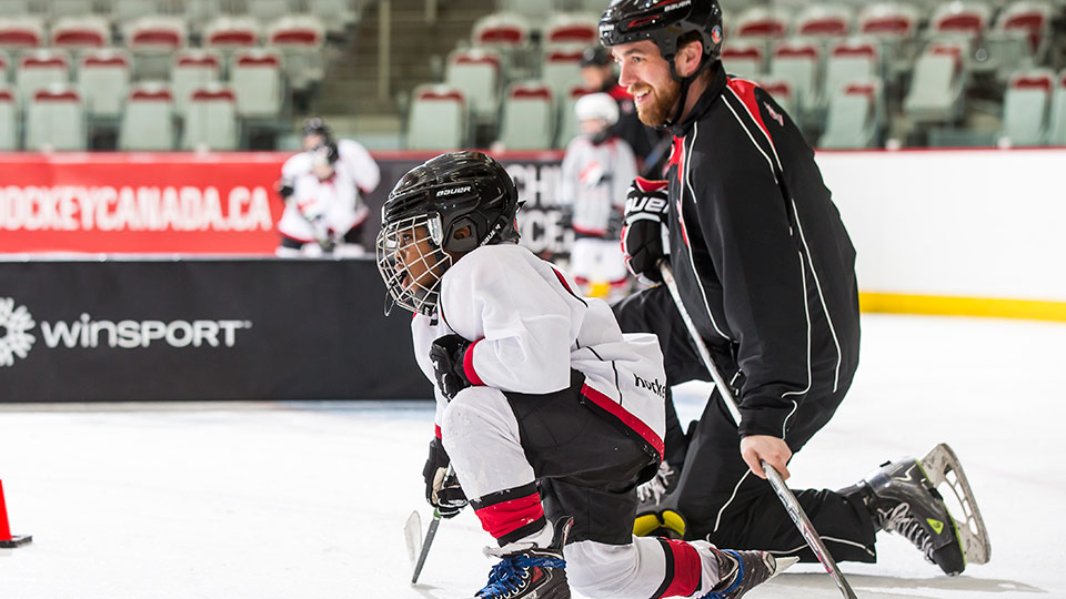 Ever wonder what full ice feels like for 7-8 year olds?