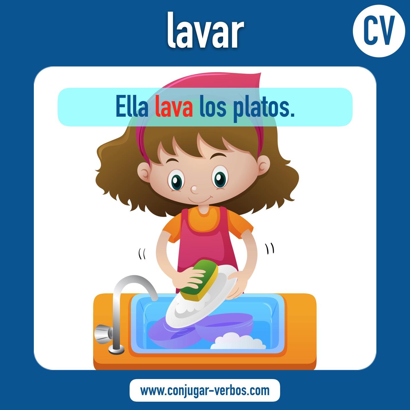 Lavar Verbo Lavar Conjugacion Lavar