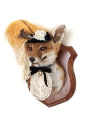 Anthropomorphic Taxidermy Art Lady Fox by Lucia Mocnay