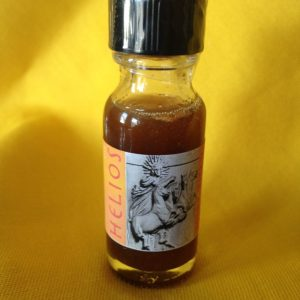 Helios Oil, the solar Titan; made by Magus at Conjure Work, sorcery supplies and services