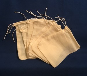 Drawstring Tea Bags to brew Conjure Work potions and to brew Hoodoo style floor washes.