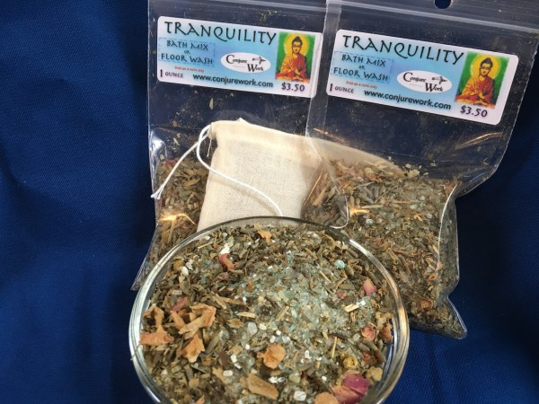 Tranquility Bath Mix at Conjure Work, sorcery supplies by Magus (Kevin Trent Boswell)