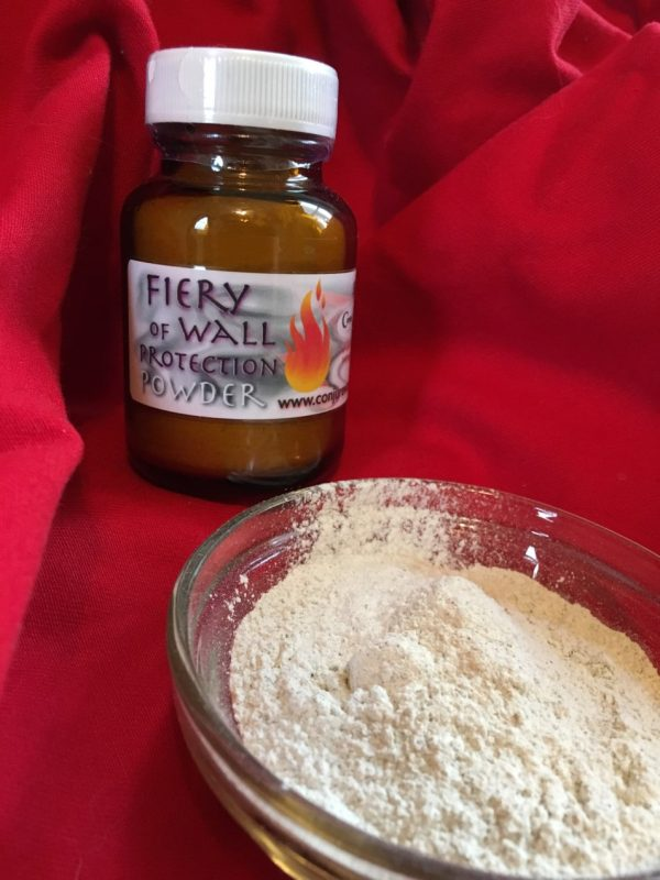 Fiery Wall of Protection Powder at Conjure Work, Pagan supplies and services, tarot, astrology, spells and Hoodoo products by Magus (Kevin Trent Boswell) , Twitter