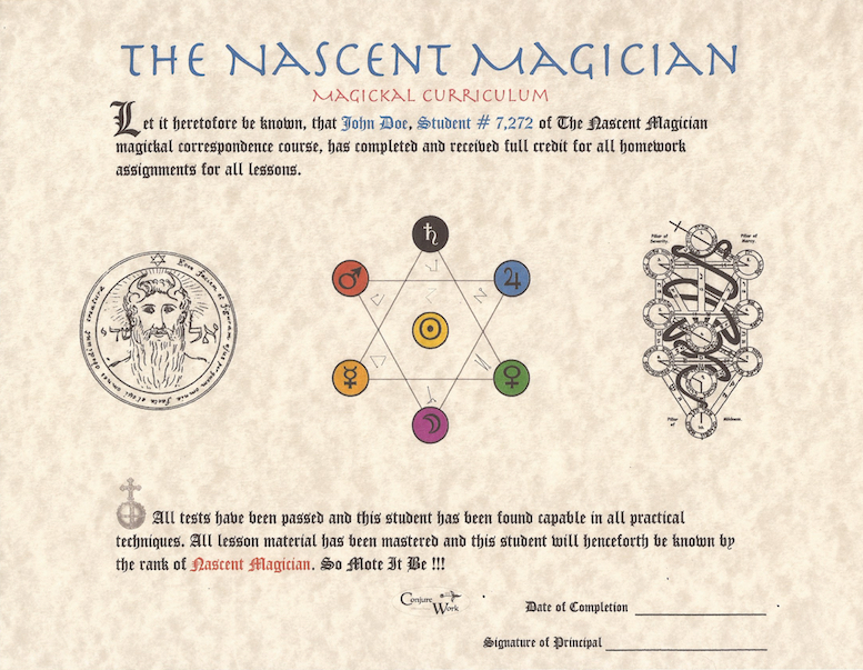 Nascent Magician Certificate, a course by Magus at conjurework.com Kevin Trent Boswell
