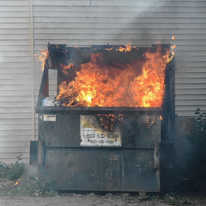 dumpster fire, The Red Pill, your perspective on reality, Magus72 blog at Conjure Work