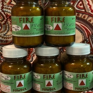 Fire Powder, Elemental Fire, for Ceremonial, Magick, sorcery, Hoodoo, at Conjure Work