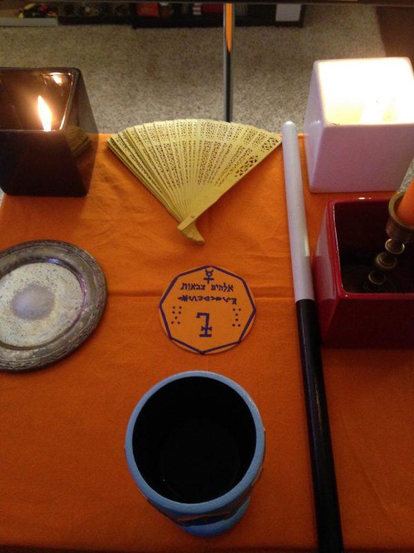 Mercury Talisman consecration, Conjure Work, photos, A Closer Look