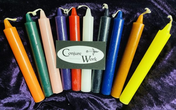 Six inch Candles, Conjure Work, Conjure Shop, Candles, Conjure Work, Pagan supplies services, tarot, astrology, Wicca, witchcraft, spells, Hoodoo, ceremonial high magick, tarot