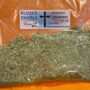 Blessed Thistle, Cnicus benedictus, sorcery, Conjure Work, herbs, magick, Golden Dawn, Solomonic, Wicca, astrology