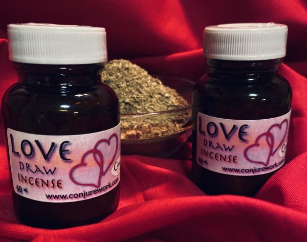 Love Draw Incense, for love spells, Conjure Work, spell supplies, sorcery