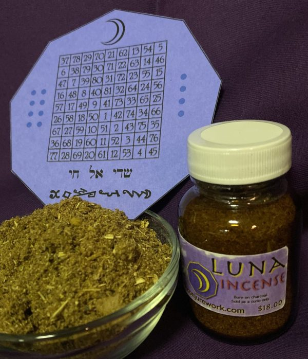 Luna Incense; the powers of the Moon, planetary magick; Conjure Work, spell supplies and services