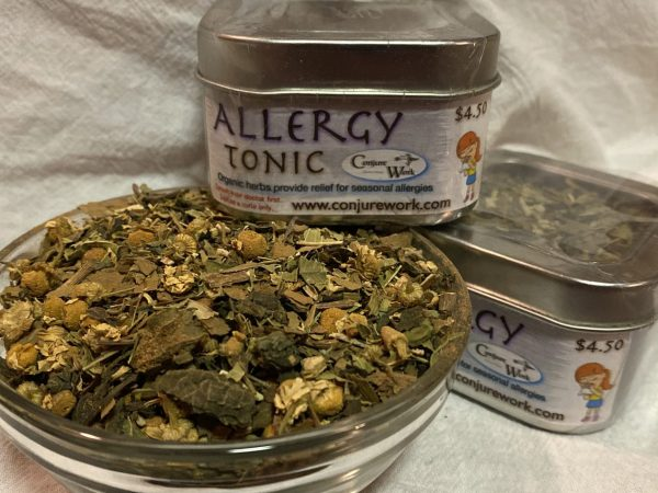 Allergy Tonic; Fast Relief for sufferers of seasonal allergies and asthma; Potions at Conjure Work