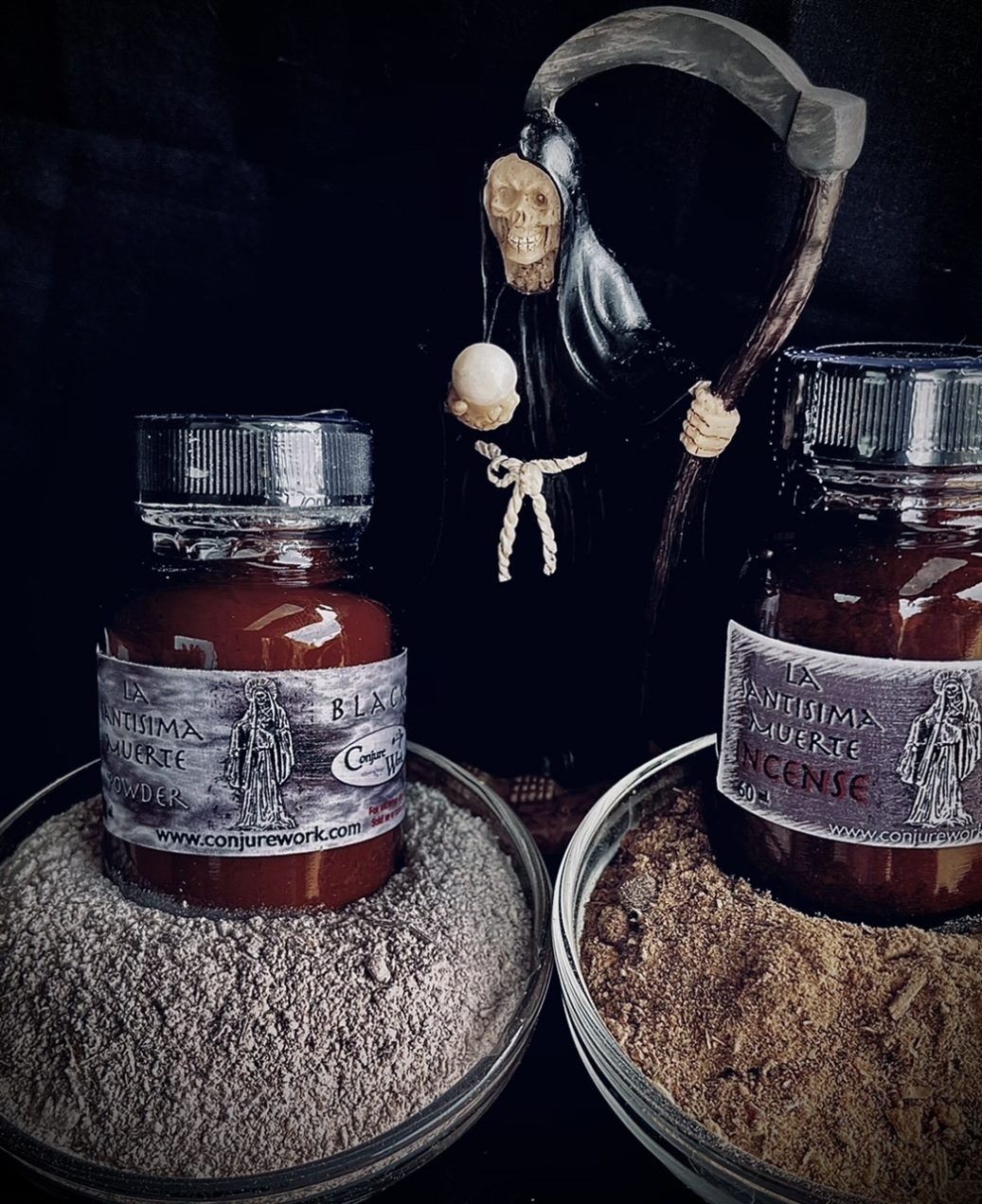 La Santisima Muerte, Black - protection spells, magick, witchcraft, Hoodoo, rootwork, sorcery of Santa Muerte, Her protective, Black Aspect