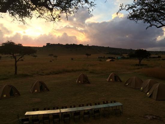 Campamento durante el Safari