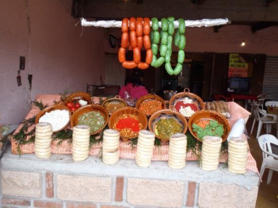 Chorizos Verdes Méxicanos en una tienda local.