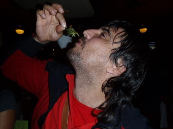 Comiendo Chiles en el Bar La Ópera - México DF