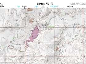 Mapa Topografico de EEUU generado por National Geographic