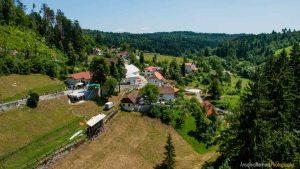 Vistas desde el balcon del Castillo de Predjama - Eslovenia
