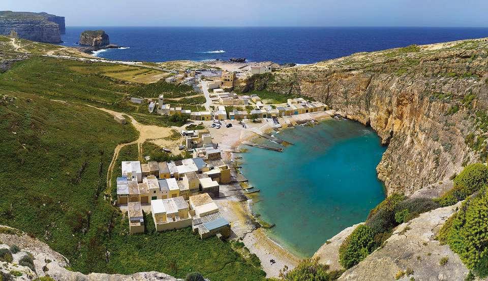 Dwejra inland sea el mar interior de la isla de gozo for La isla interior torrent