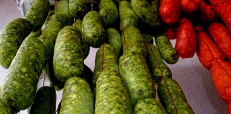 Chorizos verdes mexicanos