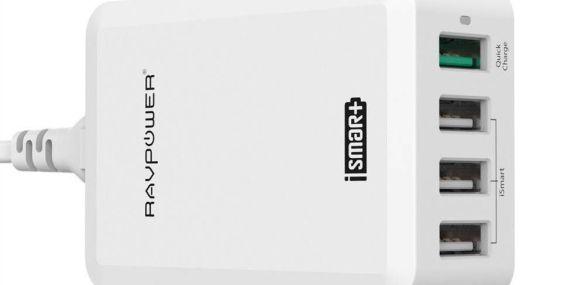 Cargador USB múltipuerto para viajes