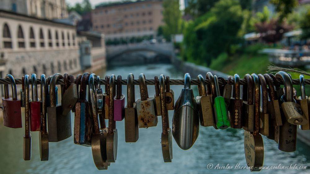 Puente de Carniceros o puente de los Candados - Liubliana - Eslovenia