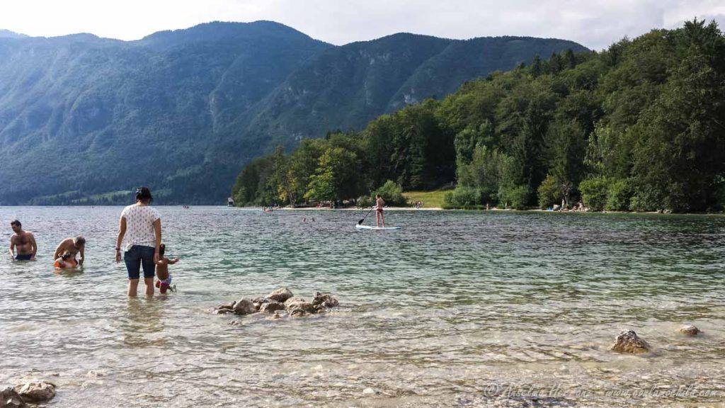 Primer Baño en nuestra visita al lago Bohinj - Eslovenia