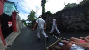 Carreiros Tirando del Carro do Monte - Funchal, Madeira